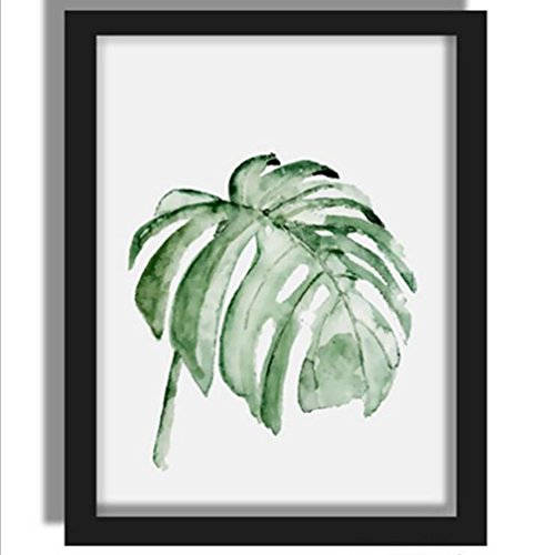 MINRAN DECOR L Pintura de Pared Impresión de Hojas de plantas verdes Moderna de Lona Arte Decoración Salón Oficina Regalo - 712371, 6, 40x50cm