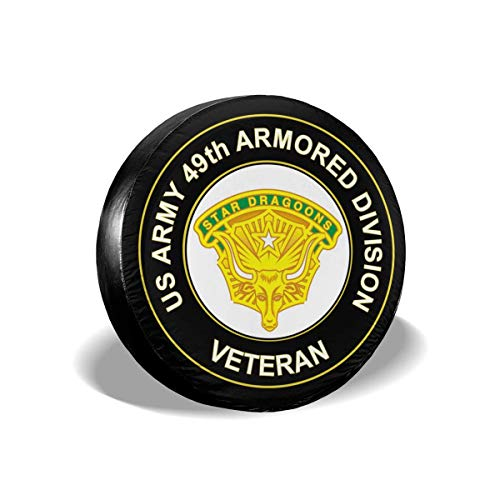 Bag hat Us Army 49Th Armored Division Unit Crest Veteran Polyester Universal Spare Wheel Tire Cover Wheel Covers Jeep Trailer Rv SUV Truck Camper Travel Trailer Accessories 16 Inch -