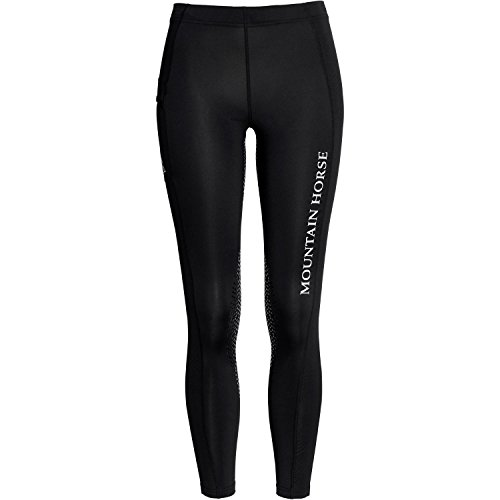 Mountain Horse Damen Kniebesatz Reitleggings SIENNA GRIP, schwarz, 38