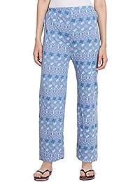 6b474ed6f7 Fflirtygo Cotton Pyjamas for Women Nightwear, Night Dress, Lounge Wear,  Light Blue Payjama