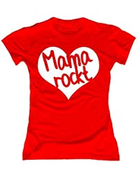 T-Shirt Mama Rockt Muttertagsshirt rot