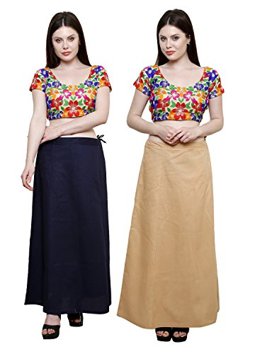 Pistaa combo of 5 Women's Cotton Best Ethnic Indian Solid Readymade Inskirt...
