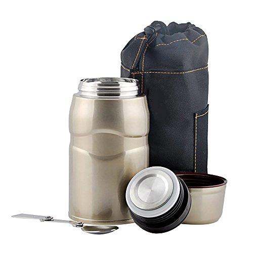Isolierte Vakuum Food Jar, Foodbehälter, Isolierbehälter Edelstahl...