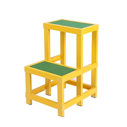 C-J-Xin -Isolierter Leiter, zwei Schicht-Fuß-Plattform FRP Stehleitern Hocker Rollleiter/Isolierung Anti-Rutsch-Pedal-Design Haushaltsleiter (Size : 30 * 50 * 80cm)