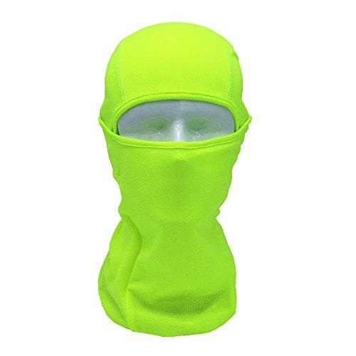 Gesichtsmaske Sturmmaske, Skimaske Colorful(TM) Vollgesichtsmaske Helm für taktisches Motorrad Radfahren Jagd (Grün)