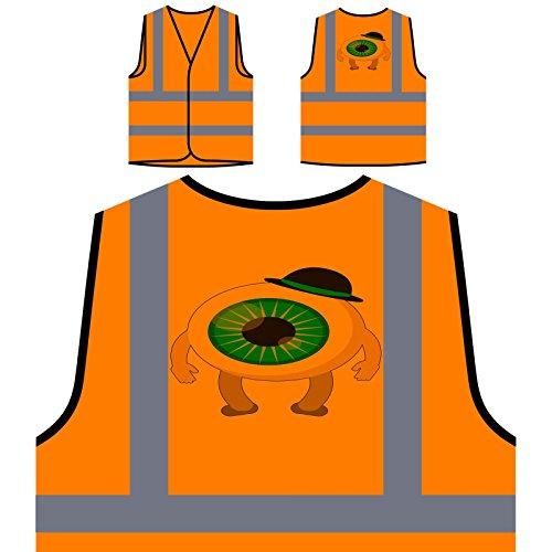 Beängstigend Halloween Auge Personalisierte High Visibility Orange Sicherheitsjacke Weste q152vo