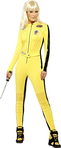 fancy dress warehouse Kill Bill Kostüm Gelb mit Overall u. Schwert, Small Preisvergleich