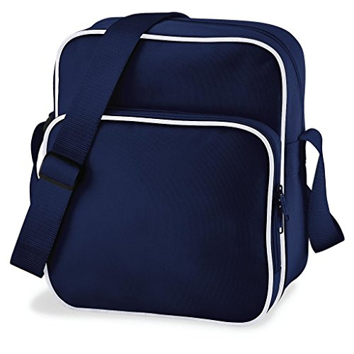 Bag Base - Sac sacoche bandoulière - RETRO DAY BAG BG26 - bleu marine - mixte