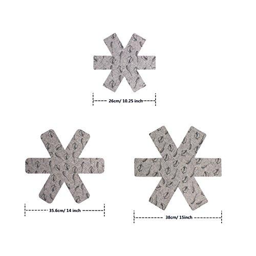 comprare on line ZeWoo Craft Pan Protettori, set di 6 – grigio prezzo
