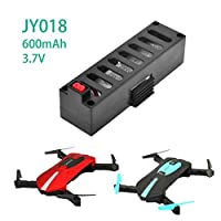 RC Drone Quadrocopter Accessories, 3.7V 600Mah Large Capacity Lipo Battery for Eachine E52 JY018 MINI RC Quadcopter Drone By UPXIANG