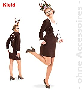 Party-Chic-Disfraz de corzo para Mujer, Talla 40, Color marrón, (Fritz Fries & Söhne GmbH 13563)