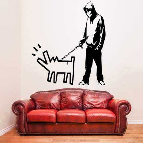 Painted Dog Wandaufkleber Kindergarten Kinder Jungen Schlafzimmer Dekor Vinyl Wandkunst Wandbild Street Style Aufkleber Ay0162 57x64cm ()