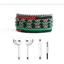 Crossloop Designer Series 3.5mm Universal In-Ear Headphones With Mic And Volume Control (Red, Green & Black)