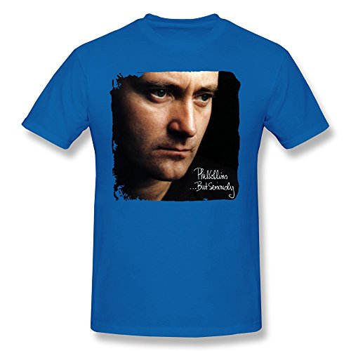 DestroyMoment Men's Phil Collins But Seriously Poster T-Shirts Black