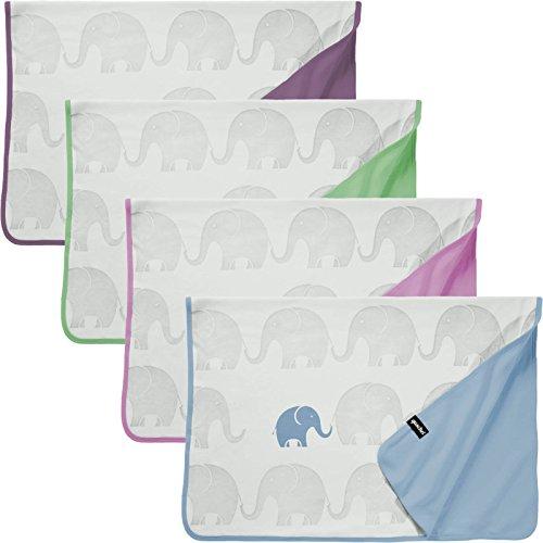 quschel® Babydecke/Erstlingsdecke/Schmusedecke Blau aus 100% Bio-Baumwolle. Atmungsaktiv, pflegeleicht und GOTS zertifiziert. Größe 75x100cm. Inkl. Geschenkschachtel.