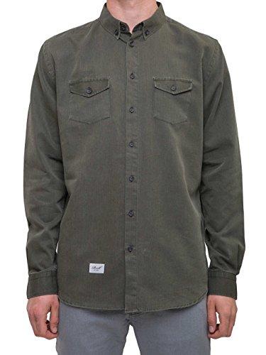 Reell -  Camicia Casual  - Uomo Olive