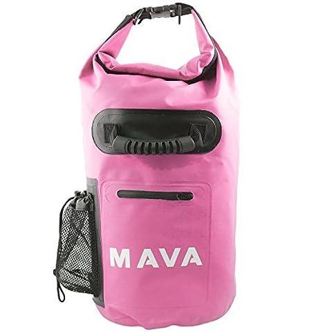 Mava Sports Sac étanche avec poche pour téléphone portable et sangle d'épaule pour activités sportives Large rose
