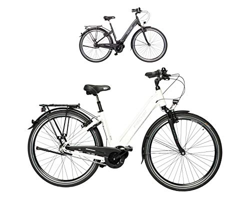 FISCHER E-Bike City CITA 3.1i, schwarz oder weiß matt, 28 Zoll, RH 44 cm, Mittelmotor 50 Nm, 48V Akku im Rahmen