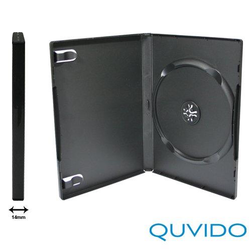 50 QUVIDO DVD Hüllen Schwarz Single / 1 CD o. DVD / 14mm