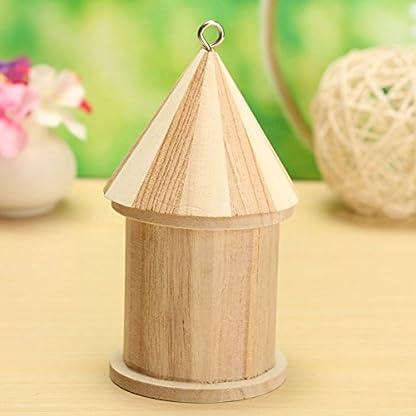 Dreammy New Wooden Bird House Birdhouse Hanging Nesting Box Hook Home Garden Decor 7