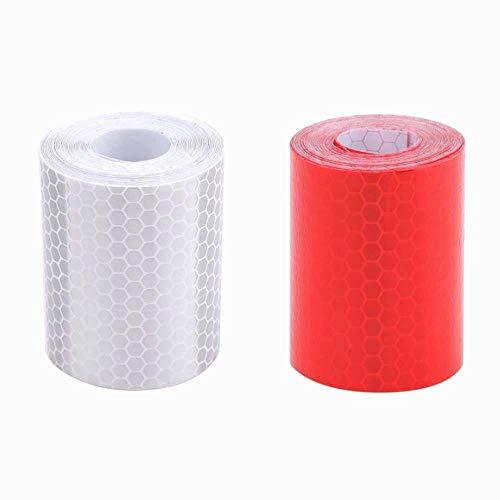 Rojo Blanco Honeycomb bandas reflectantes impermeable