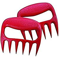 BLxi 2 Pcs Kitchen Bear Claw Shaped Meat Shredder(Red)