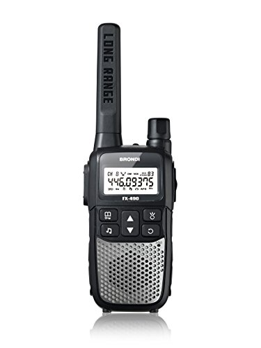 Brondi FX-490 8channels 446MHz Black,Silver two-way radio - Two-Way Radios (8 channels, 12000 m, LCD)
