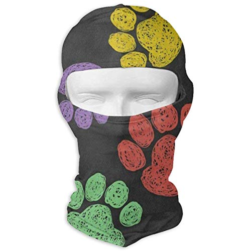 Balaclava Watercolor Cow with Daisy Flower Full Face Masks Ski Motorcycle Neck Hood Cycling New3