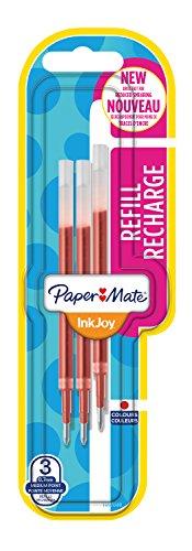 Paper Mate InkJoy Nachfüllminen, 3er-Packung, rot - Paper Rot Mate