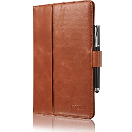 KAVAJ Lederhülle London geeignet für Apple iPad Mini 5 (2019) & 4 Hülle Echtleder Case Cognac-Braun aus echtem Leder mit Stand und Auto Schlaf/Aufwachen Funktion. Dünnes Smart-Cover Schutzhülle