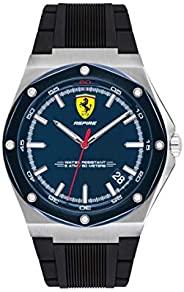 Scuderia Ferrari MEN'S BLUE DIAL BLACK SILICONE WATCH - 83