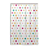 ALAZA Nette Bunte Punkte Duschvorhang 48 x 72 inch, schimmelresistent und Wasserdicht Polyester Dekoration Badezimmer-Vorhang
