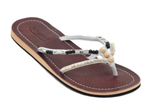 Amboss Damen Sandalen mit Echt Leder Gr. 36 - 43 Weiß