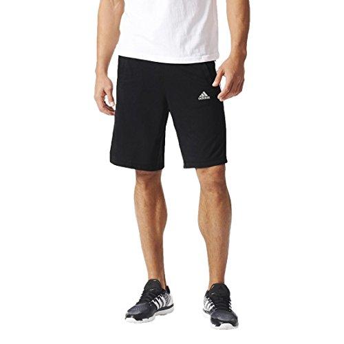adidas Herren Essentials 3 Streifen Shorts Black/White
