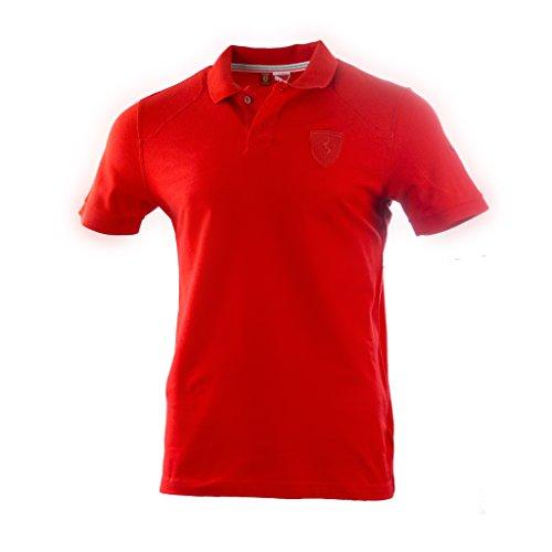 Puma SF Scuderia Ferrari Formel 1 F1 Polo Shirt T-Shirt rot schwarz rot, SF Pique L (Pique-polo Top)