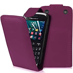 Supergets® Blackberry Curve 9320 Purple Top Flip Case Covers, Screen Protector and Polishing Cloth