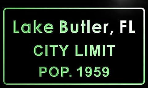 t77056-g Lake Butler, FL City Limit POP. 1959 Indoor Neon Sign