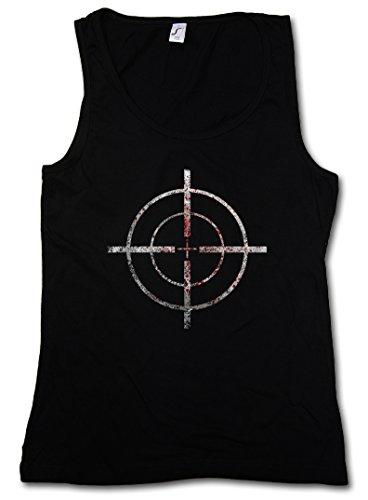 BLOODY CROSSHAIRS SNIPER DONNA CANOTTA TANK TOP - Call of mirino Crosshair Duty Gun Ego-Shooter Rifle Target US Taglie S - XL