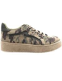 d86b1d21249 Amazon.es  zapatillas verde militar mujer  Zapatos y complementos