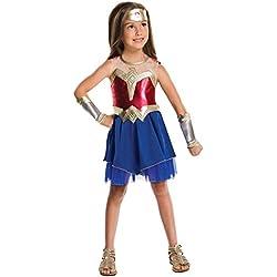 Disfraz oficial de la Liga de la Justicia de DC Comics, de Rubie's, Wonder Woman, disfraz para niño
