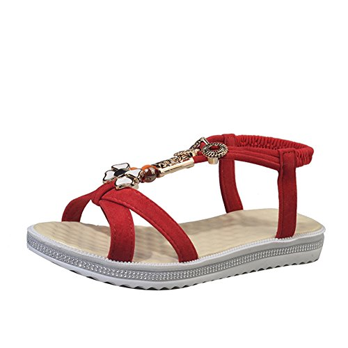 Pieds de fashion Lady Sandals/Sandales plates/étudiant appartement avec open-toe Sandals C