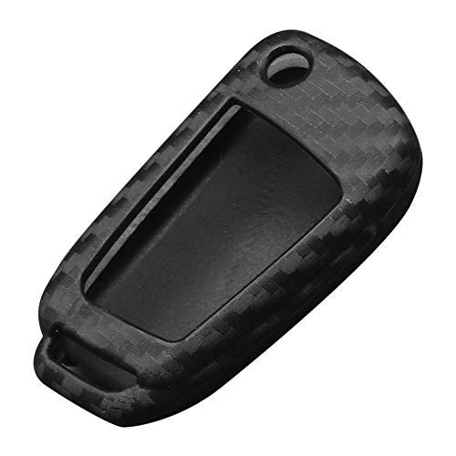 Libertry Custodia in fibra di carbonio auto protettiva auto-styling custodia chiave per Audi TT A7 A4 A4L 8S B9 Q5 A6L A5 A8 Q3 Q7 Accessori nero