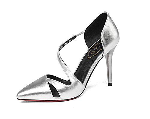 Beauqueen Casual Pumps Party Arbeit Schuhe Sommer Frauen S-Strap Low Heel  Silber Gold Einfache 4677eb0260