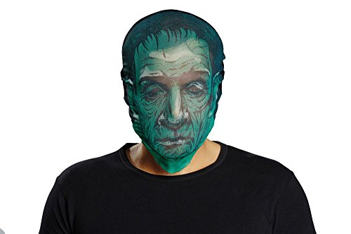 Maske grüner Zombie Zombiemaske zu Halloween Karneval Fasching Party (Zombie Halloween Masken)