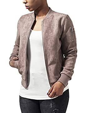 Urban Classics Ladies Imitation Suede Bomber Jacket, Chaqueta para Mujer