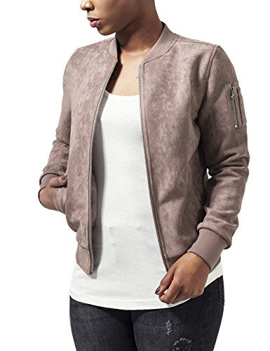 Urban Classics Ladies Imitation Suede Bomber Jacket, Giacca Donna, Braun (Taupe 782), 42