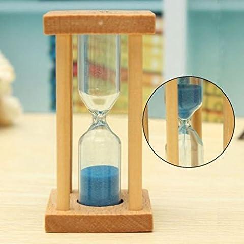 Igemy 1/3/5min en bois Sable Sablier Sablier minuterie Horloge Home Decor Cadeau de cuisine C