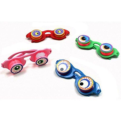 4x Kinder Brille mit Wackelaugen Mitgebsel Tombola Party Scherzbrille