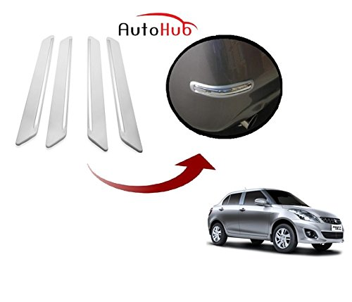 Auto Hub Chrome Car Bumper Protector For Maruti Suzuki Swift Dzire New - White - By AS Traders.  available at amazon for Rs.549