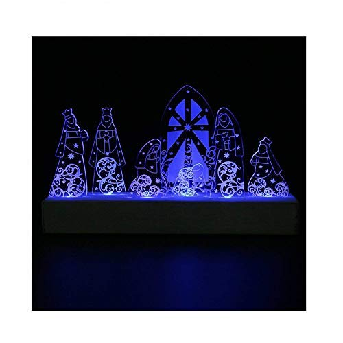 Giftgarden® presepi a led sacra famiglia re magi presepe decori per festa